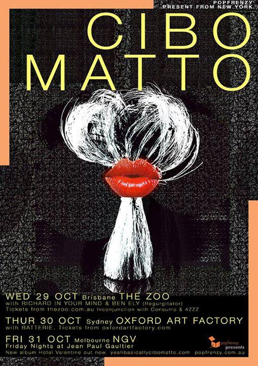 Cibo Matto 2014 Aust tour. BATTERIE support Sydney, Oxford Arts Factory.