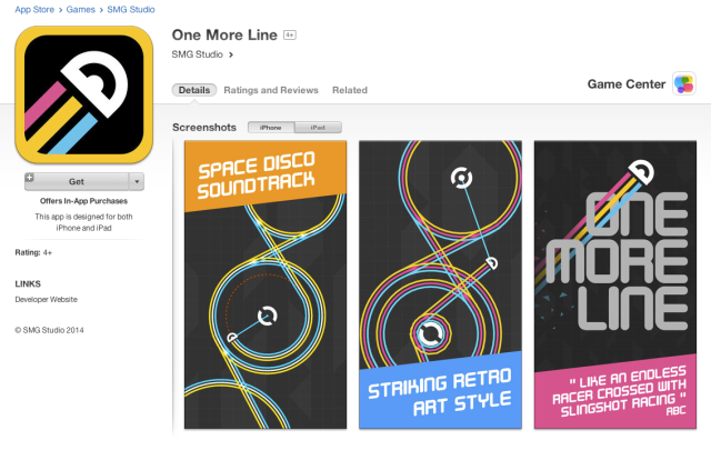 One More Line on the itunes app store game center