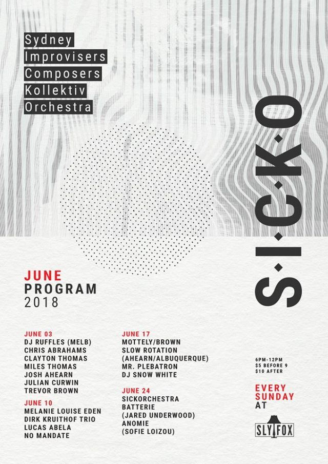 SICKO Sly Fox June Program